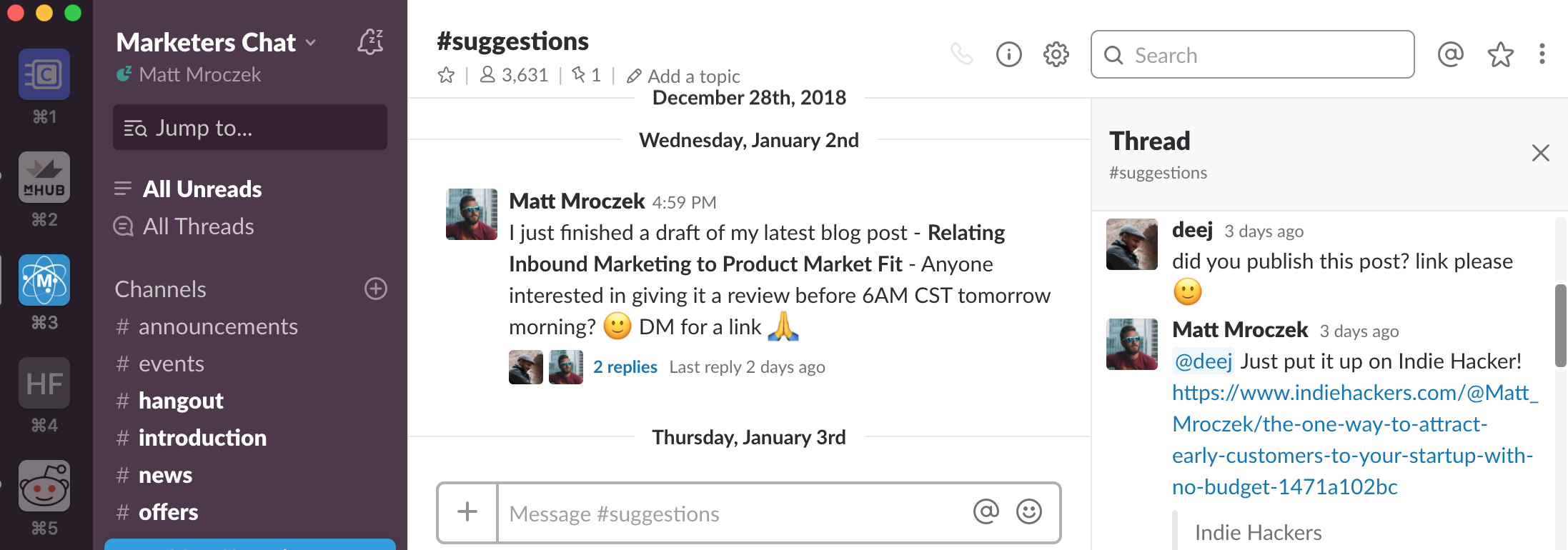 Slack Community Feedback