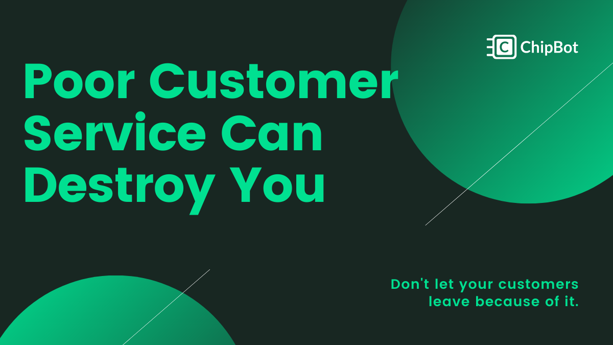 Don't Allow Poor Customer Service to Drag You Down